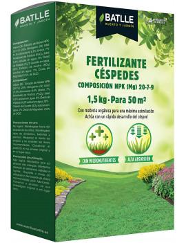 Fertilizante césped granulado