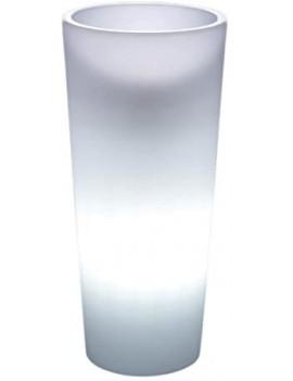 Maceta redonda con luz VECA